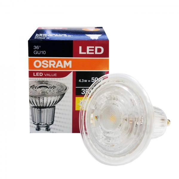 LED GU10 4.3W Par16 3000K 36
