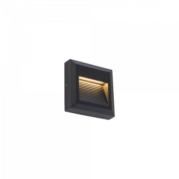 SIDEWALK SQUARE LED black 8148