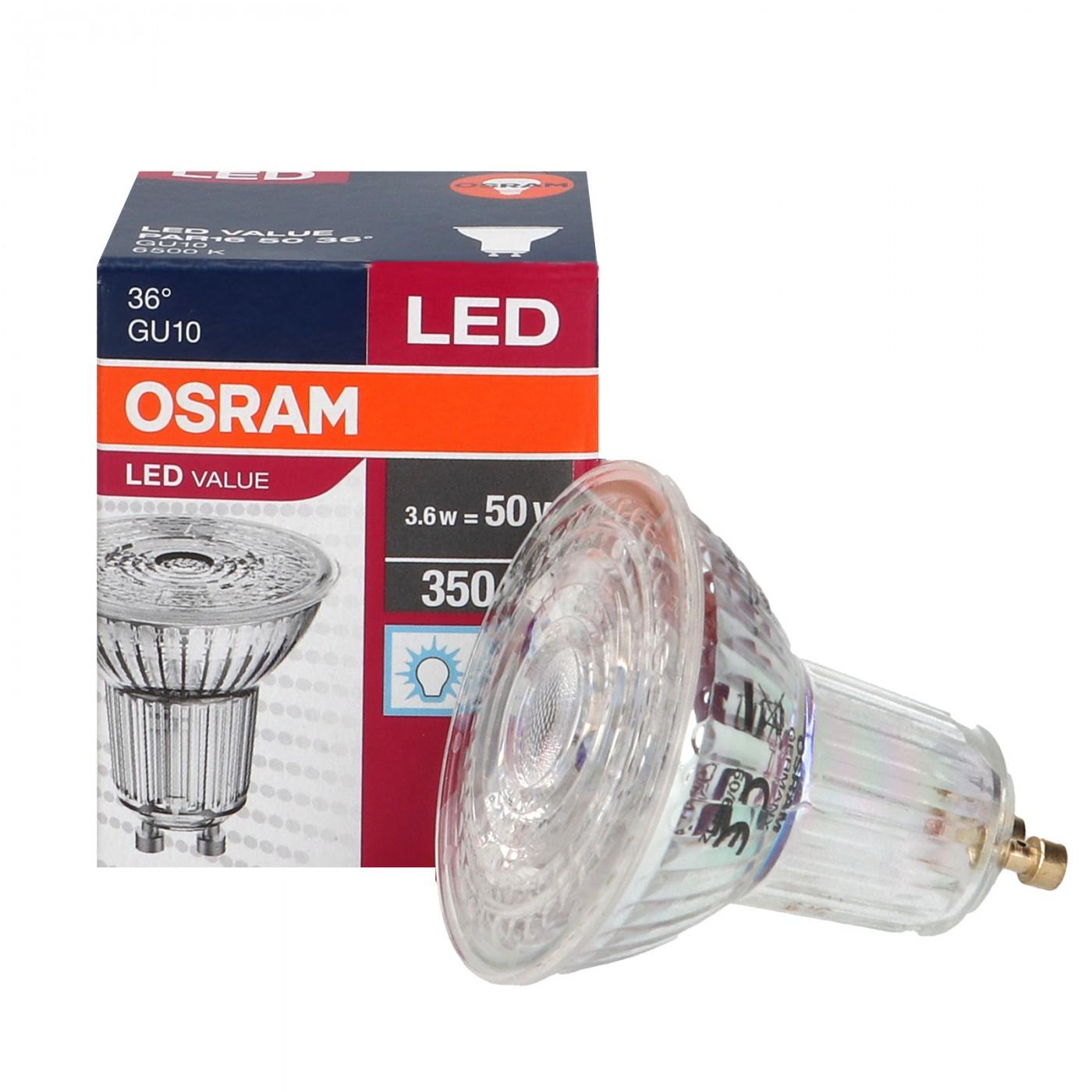 LED GU10 3.6W Par16 6500K 36 OSRAM